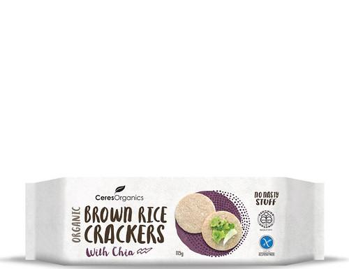 Ceres Organics Brown Rice Crackers Chia