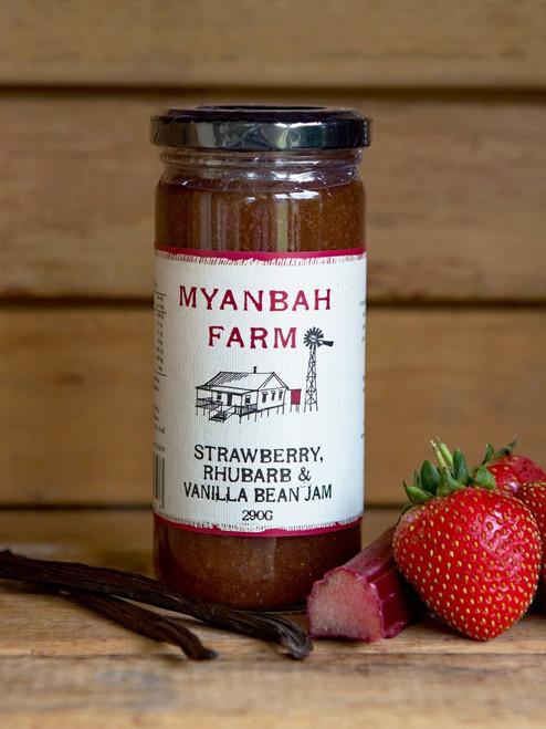 Myanbah Strawberry, Rhubarb & Vanilla Bean Jam