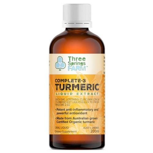 Three Spring Farm Complete 3 Turmeric Liquid Extract