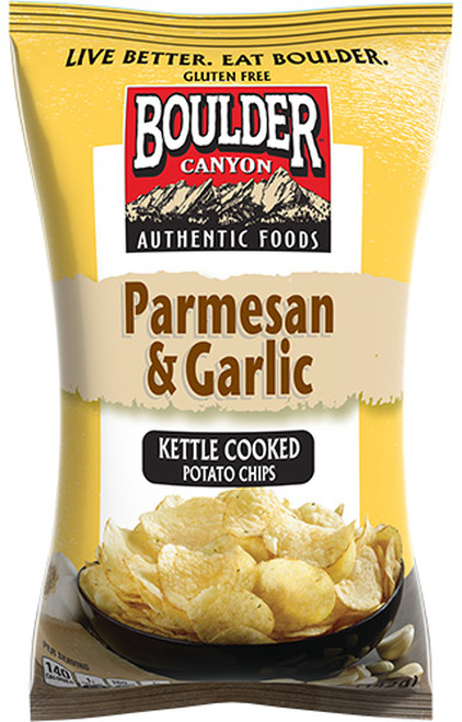 Boulder Canyon Chips Parmesan & Garlic Kettle Chips