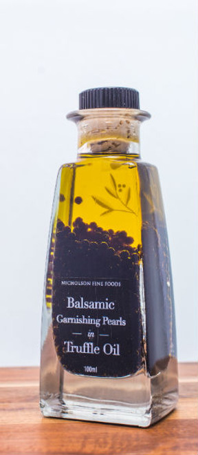 Nicholson's Fine Food Balsamic Garnishing Pearls in Truffle Oil