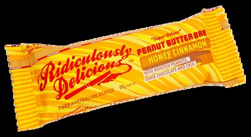 Ridiculously Delicious Peanut Butter Bar Honey Cinnamon