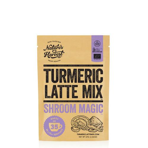 Naures Harvest Tumeric Latte Mix Shroom Magic