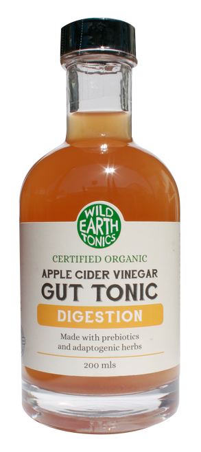 Wild Earth Tonics Organic Apple Cider Vinegar Digestion Gut Tonic