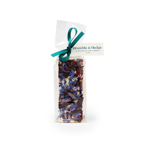 Bramble & Hedge Nougat Blackberry & Candied Violet, Cornflowers & Belgian White Chocolate