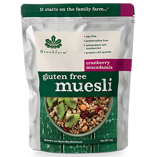 Brookfarm Muesli Gluten Free with Cranberries