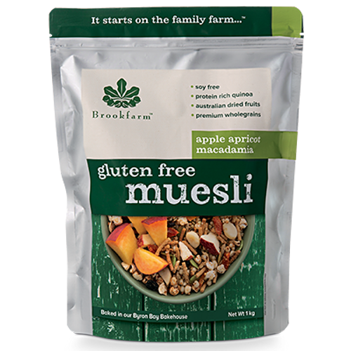 Brookfarm Muesli Gluten Free with Apple & Apricots