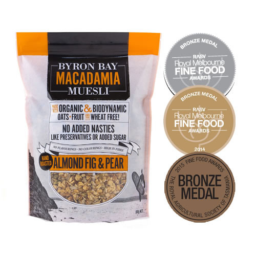 Byron Bay Macadamia Muesli Almond, Fig & Pear Muesli