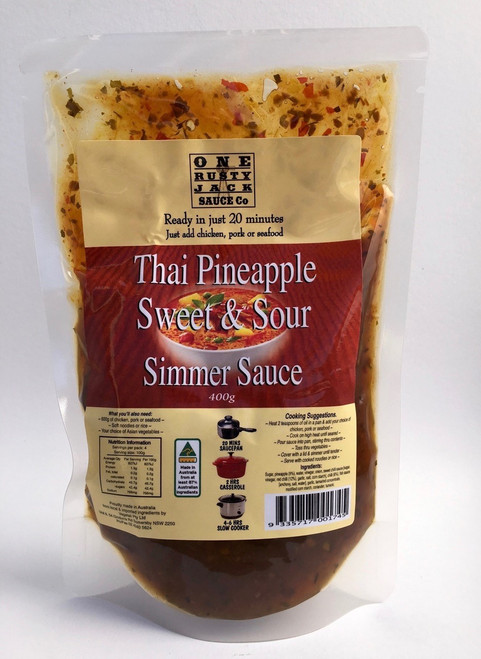 One Rusty Jack Simmer Sauce Thai Pineapple Sweet & Sour