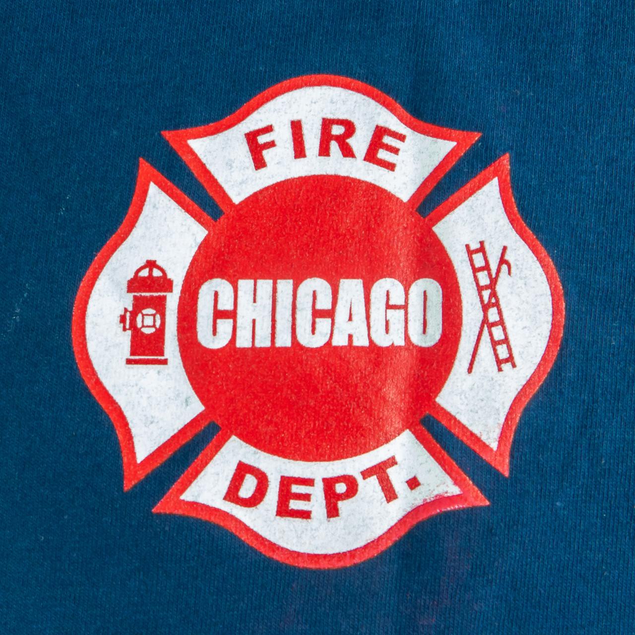 Men S Long Sleeve Chicago Fire Department T Shirt