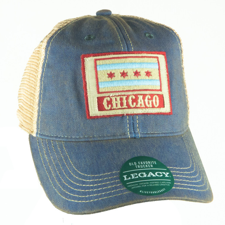 Chicago Flag Patch Adjustable Hat