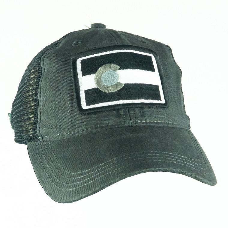 Colorado Flag Tonal Hat, midnight black