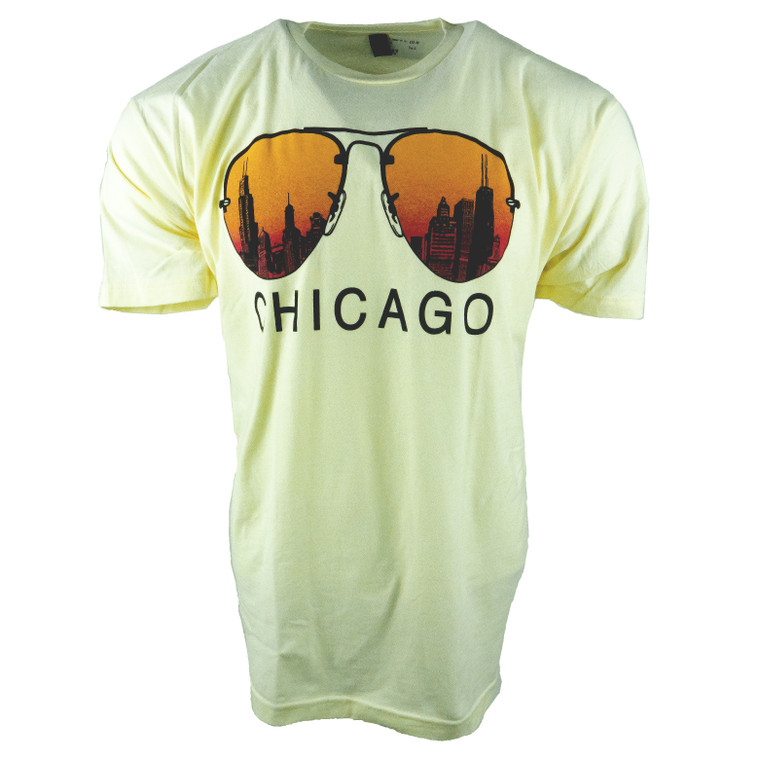 Men's Short Sleeve Chicago City Shades T-Shirt, natural white