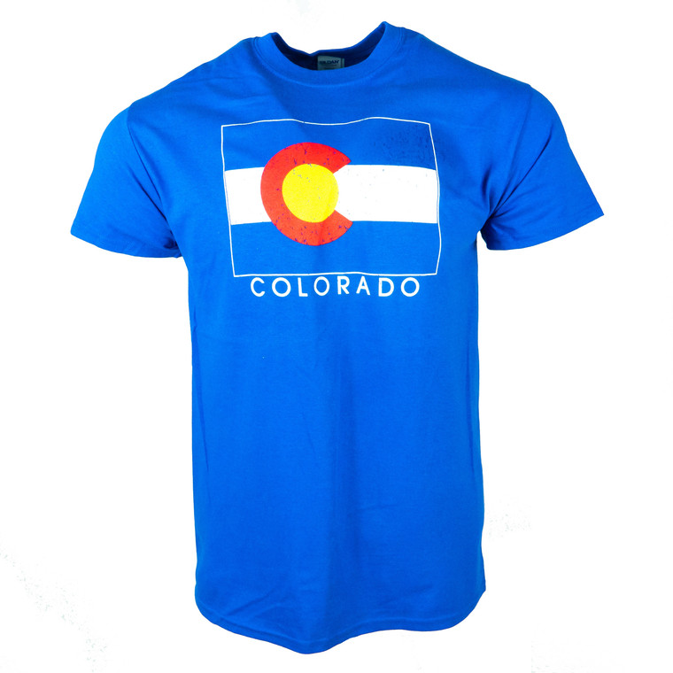 Men's Short Sleeve Colorado State Flag T-Shirt With Name