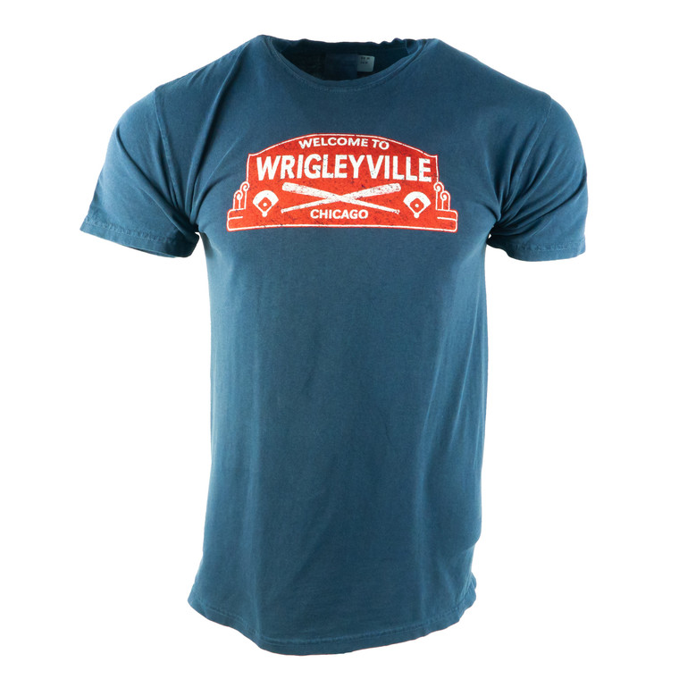 Men's Short Sleeve Wrigleyville T-Shirt, navy