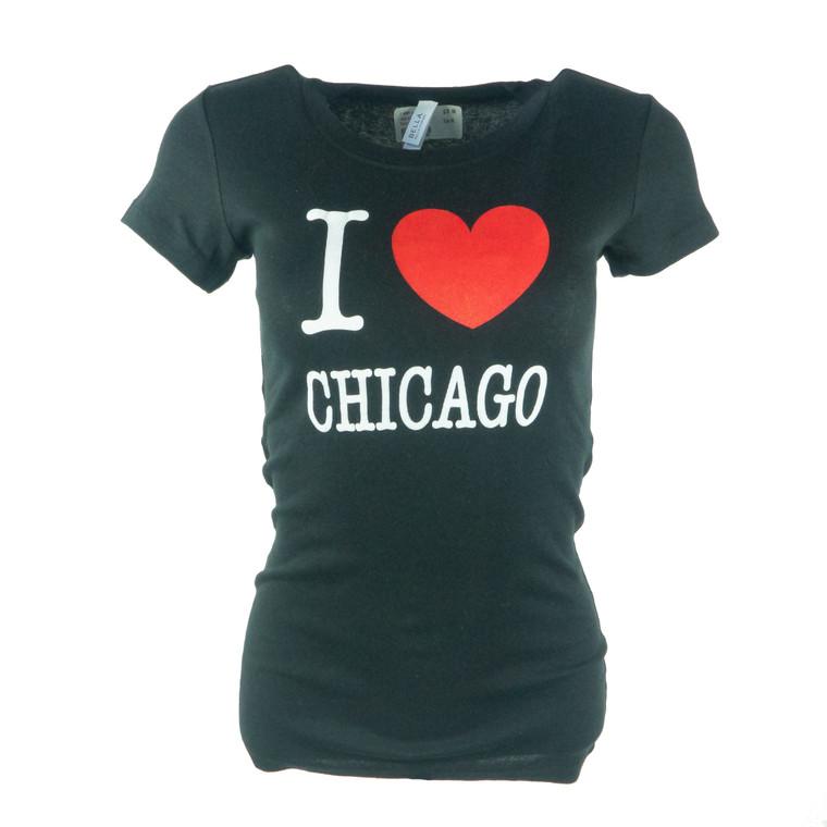 Women's Short Sleeve I Heart Chicago T-Shirt
