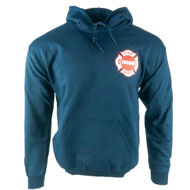 Men's Hoodie Chicago Fire Department Sweatshirt, navy