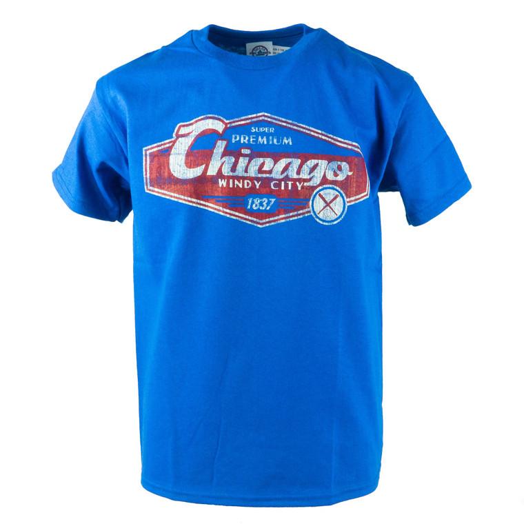 Youth Short Sleeve Chicago Bats and Balls T-Shirt, royal blue