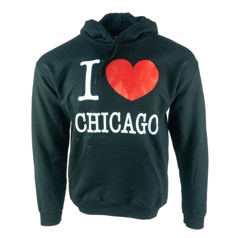 Men's Hoodie I Heart Chicago Sweatshirt, black