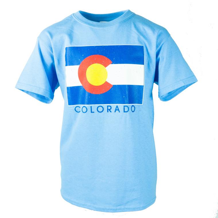 Children's Short Sleeve Colorado State Flag T-Shirt