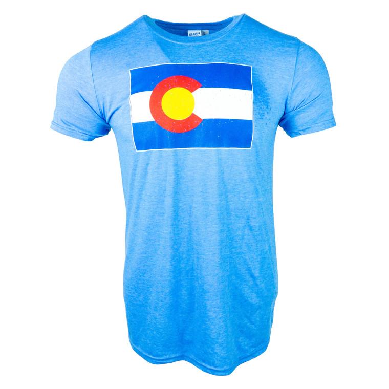 Men's Short Sleeve Colorado State Flag T-Shirt