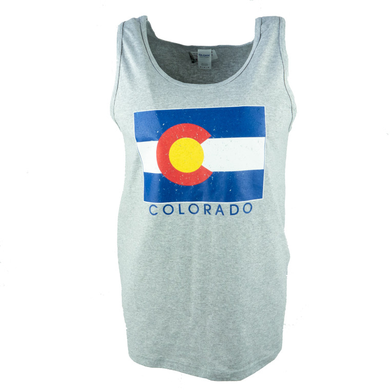 Men's Tank Top Colorado State Flag Shirt, sport grey
