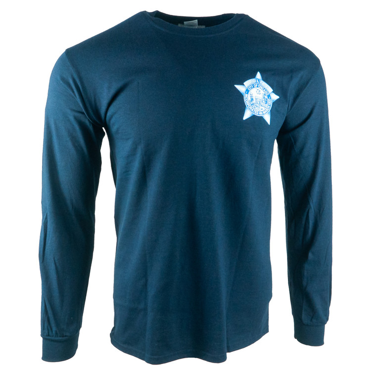 Men's Long Sleeve Chicago Police Department T-Shirt, navy