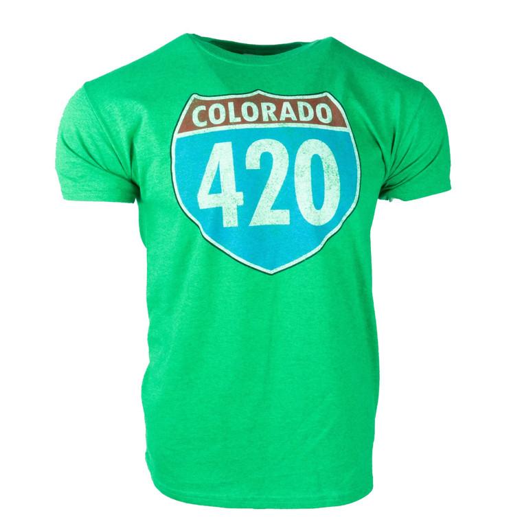 Men's Short Sleeve 420 Colorado Vintage T-Shirt, green