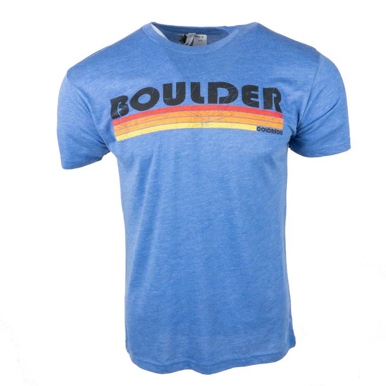 Men's Short Sleeve Boulder Flatliner T-Shirt, royal blue