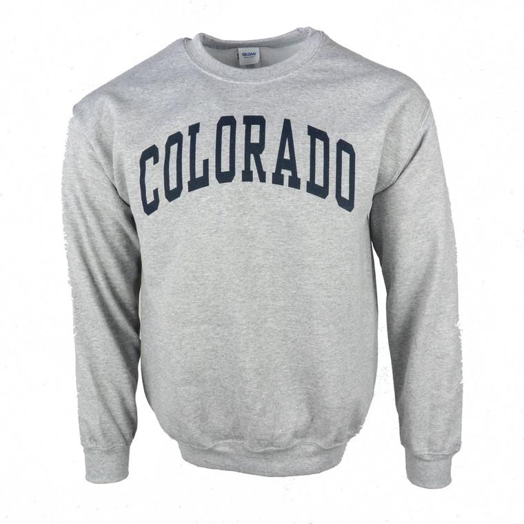 Men's Crew Neck Colorado Arched Logo Sweatshirt