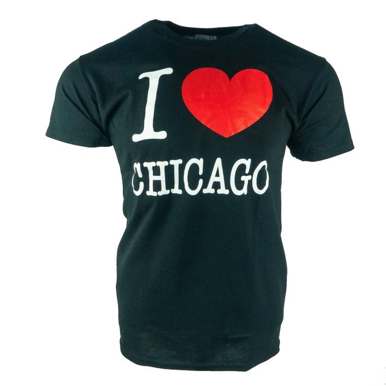 Men's Short Sleeve I Heart Chicago T-Shirt, black