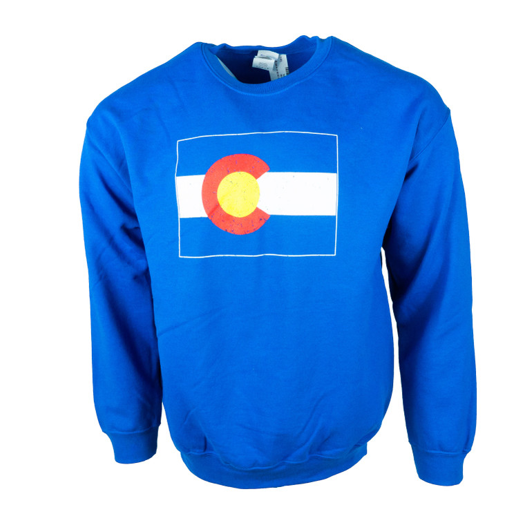 Men's Crew Neck Colorado State Flag Sweatshirt