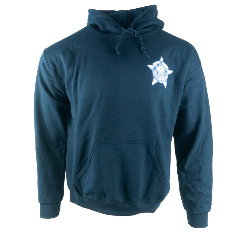 Men's Hoodie Chicago Police Department Sweatshirt, navy