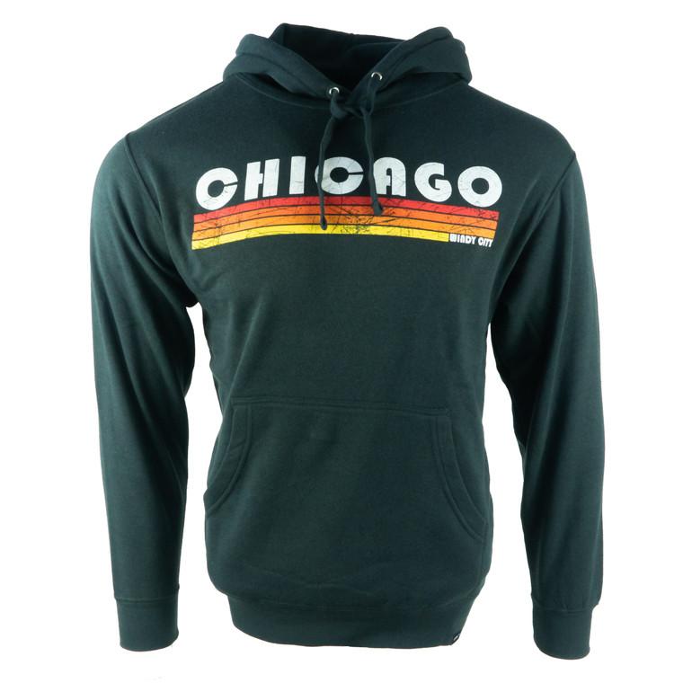 Men's Hoodie Chicago Flatliners Sweatshirt, black