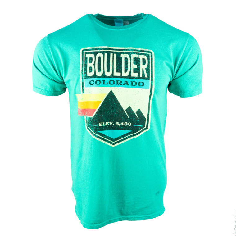 Men's Short Sleeve Boulder Elevation T-Shirt, green