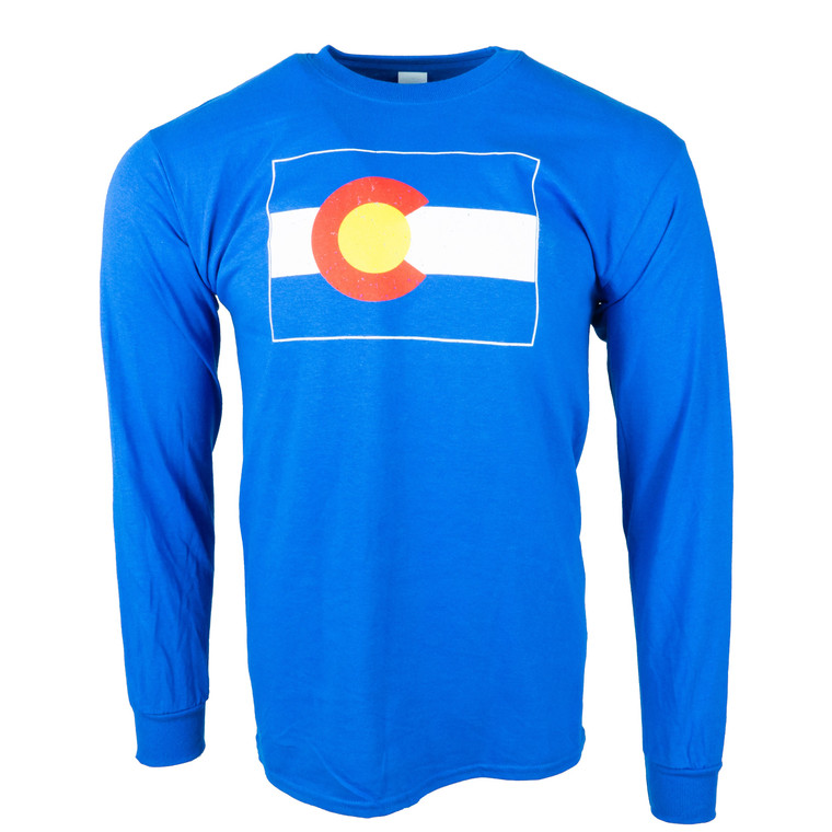 Men's Long Sleeve Colorado State Flag T-Shirt