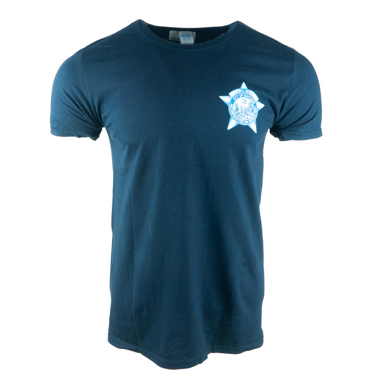 Men's Short Sleeve Chicago Police Department T-Shirt, navy