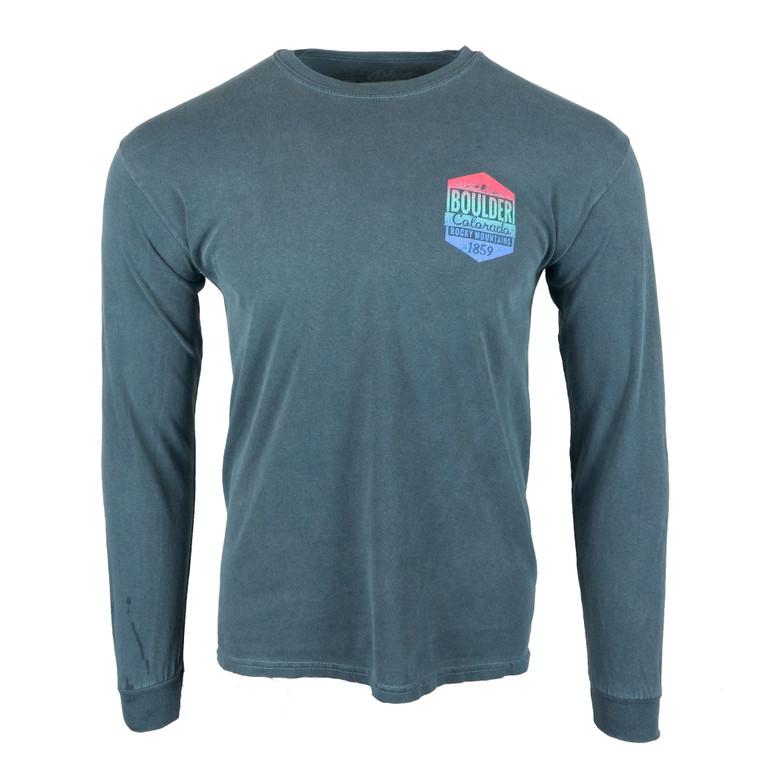 Men's Long Sleeve Boulder Eloise Mountain Skyline T-Shirt