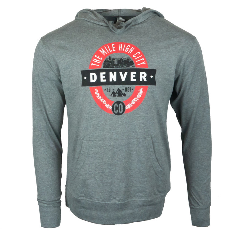 Men's Long Sleeve Denver Brew Ha Lightweight Hoodie