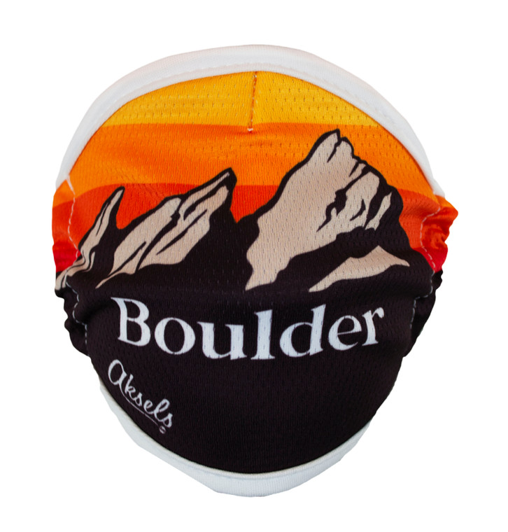Boulder Flatirons Mountain Scape Face Mask