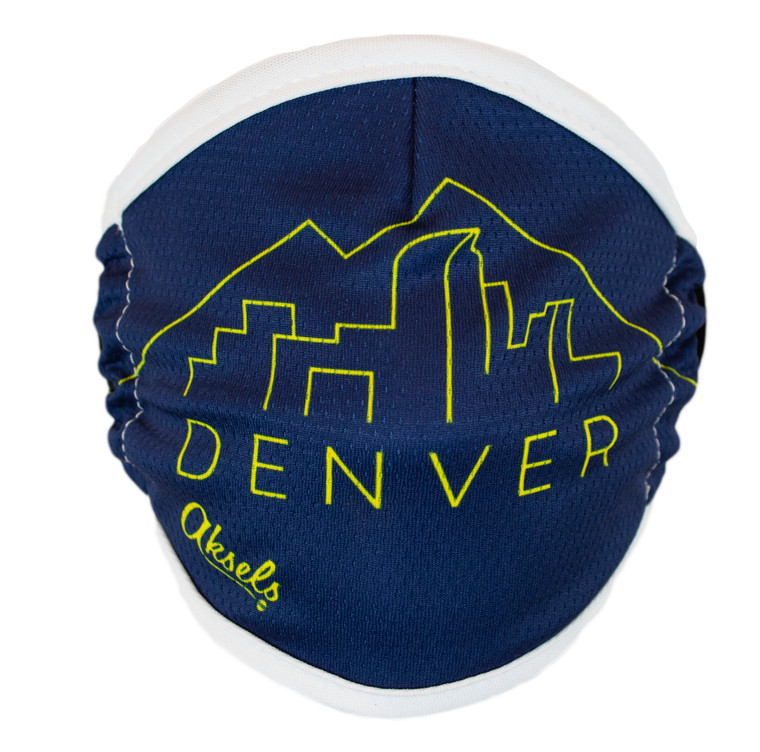 Denver City and Mountain Scape Face Mask