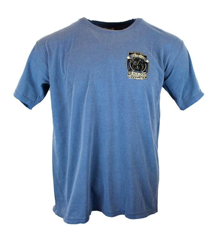 Men's Short Sleeve Black Dog Brewery Denver Colorado T-Shirt - Blue Jean