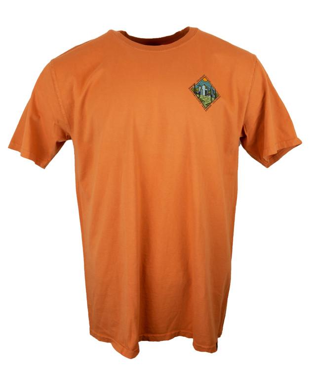 Men's Short Sleeve Diamond Denver Colorado T-Shirt - Amber Orange