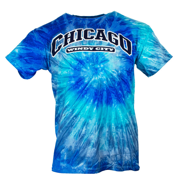 Men's Short Sleeve Chicago Tye Dye T-Shirt - Blue