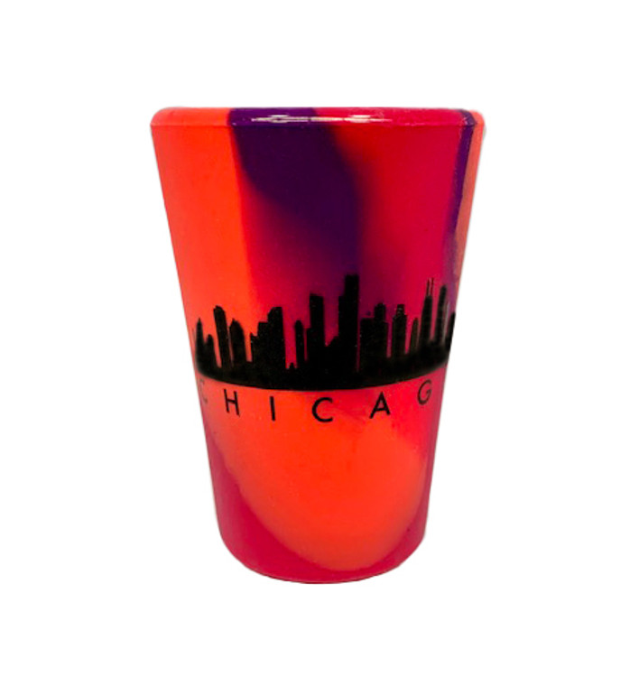 Chicago Sili Pint Silicone Shot Glass - Radberry Red