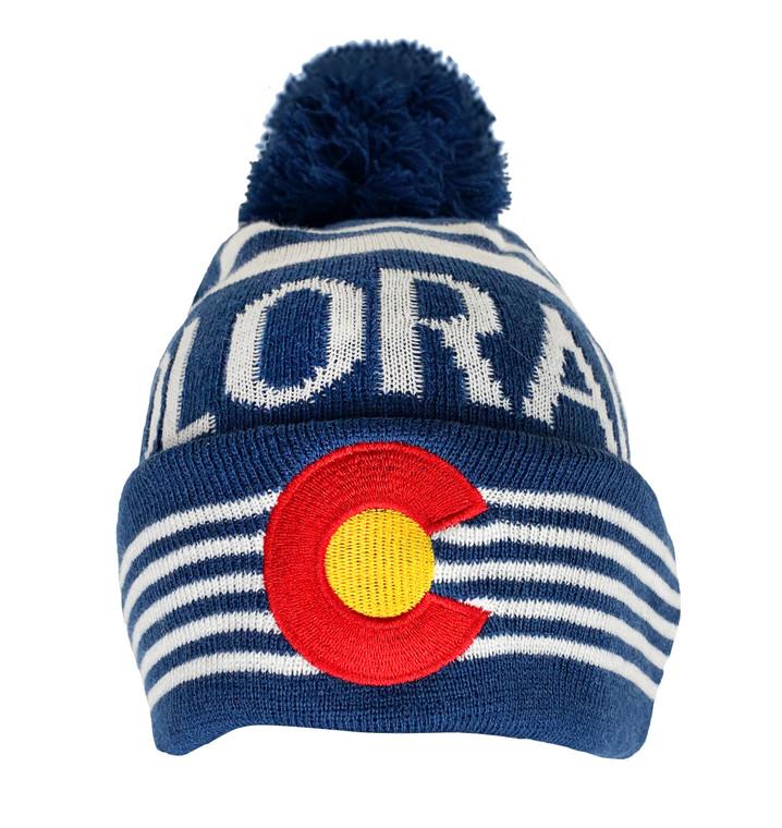Colorado Woven Flag Beanie - Royal