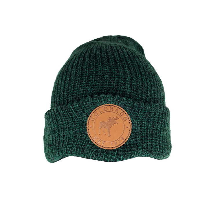 Colorado Moose Patch Beanie