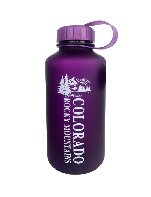 Colorado 14ers Mountain Water Bottle - Purple