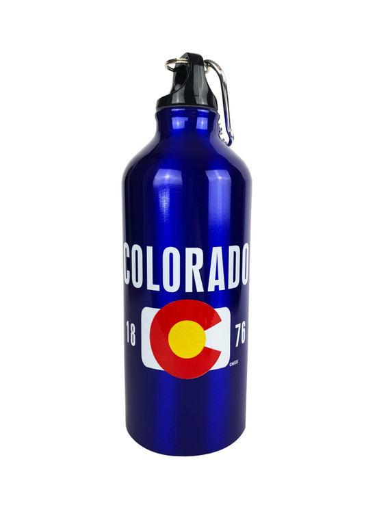 Colorado State Flag 26oz Aluminum Water Bottle - Blue
