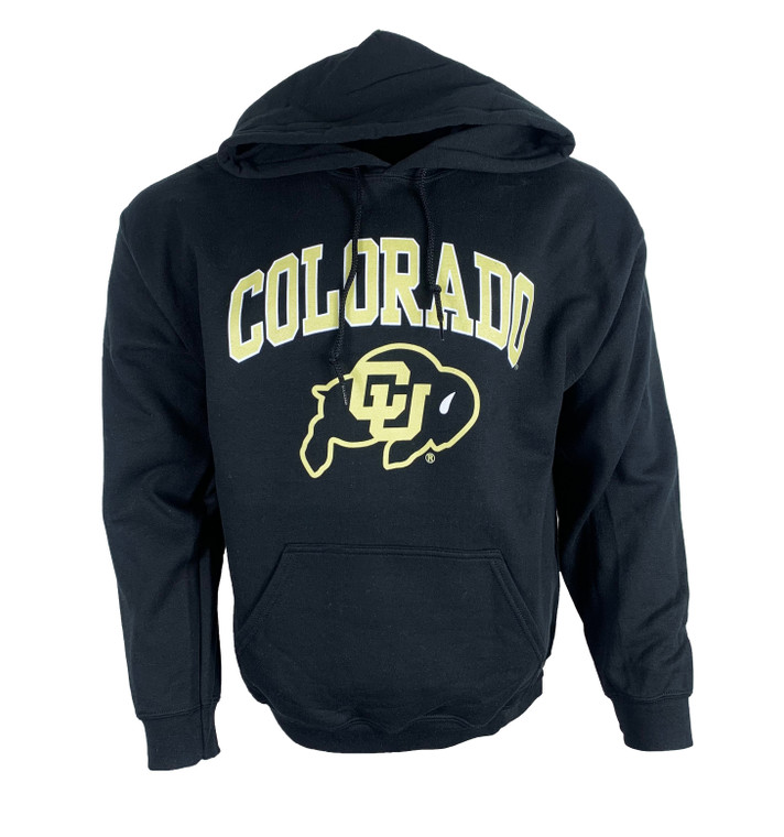 Long Sleeve Colorado University (CU) Hooded Sweatshirt, black